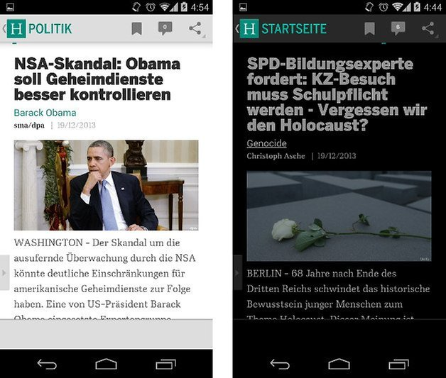 huffington post app screenshot 02