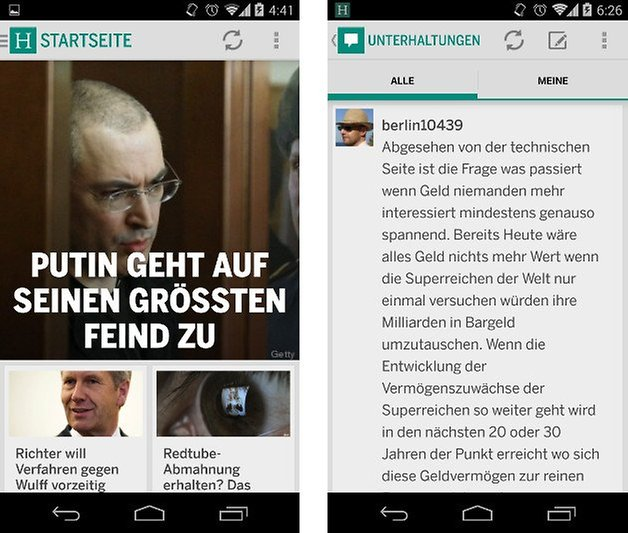 huffington post app screenshot 08