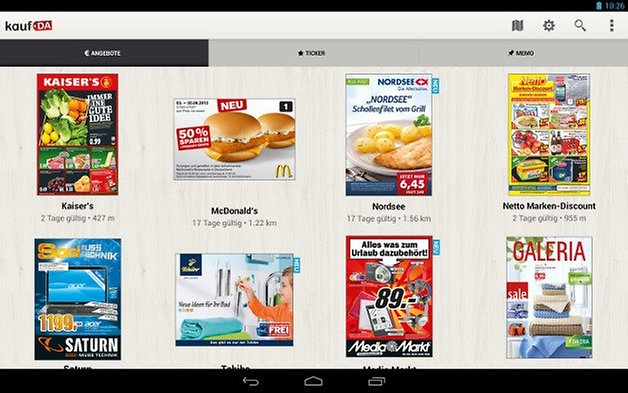 kaufda shopping app screenshot