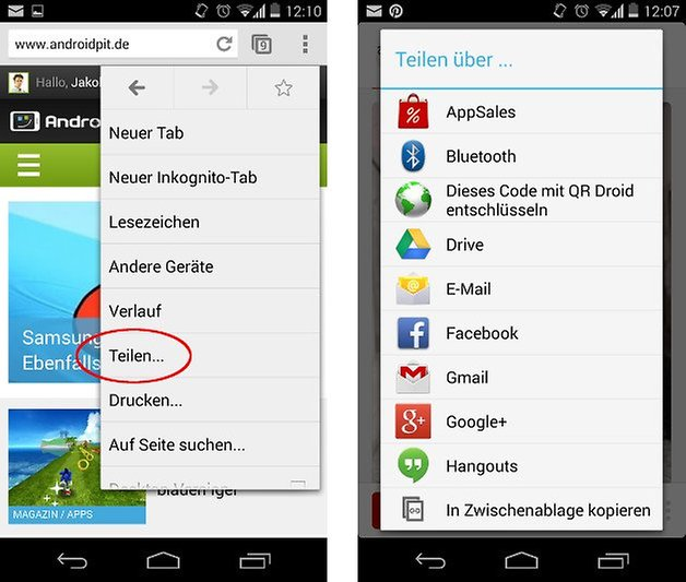 kitkat bug teilen screenshot 01