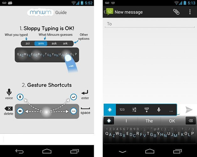 minuum keyboard app screenshot 02