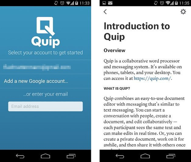 quip app screenshot 01