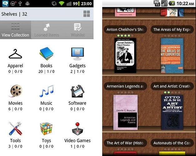 sammel apps my shelves screenshot