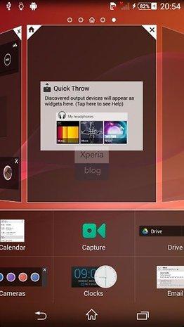 Capturas de pantalla de de la nueva interfaz de usuario de Sony, Timescape.