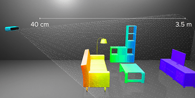 structure sensor range