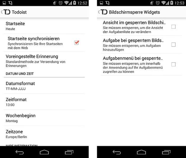 todoist app einstellungen screenshot 03