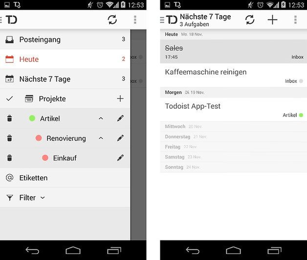 todoist app seitenmenue screenshot 05