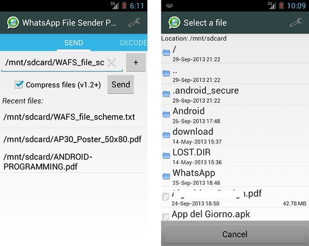 WhatsApp File Sender: send files of any type with WhatsApp