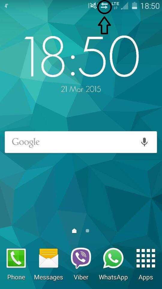 Samsung Galaxy S5 Help Two Arrows On Notification Panel After New
