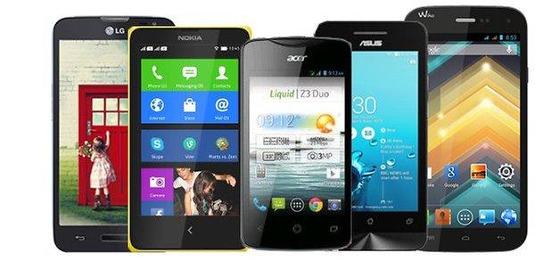 5 smartphones 100 euros