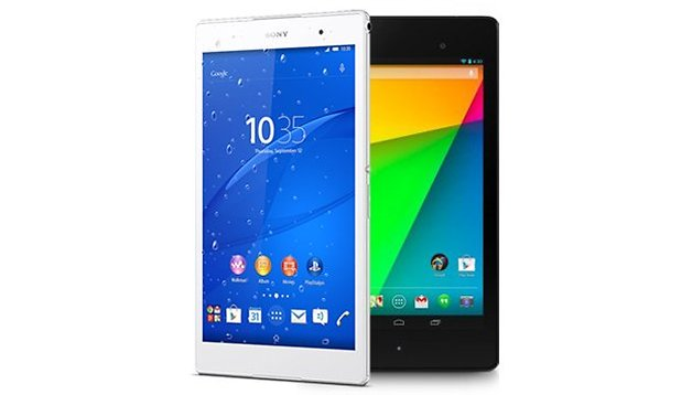 Test comparatif : Sony Xperia Z3 Tablet Compact vs Nexus 7