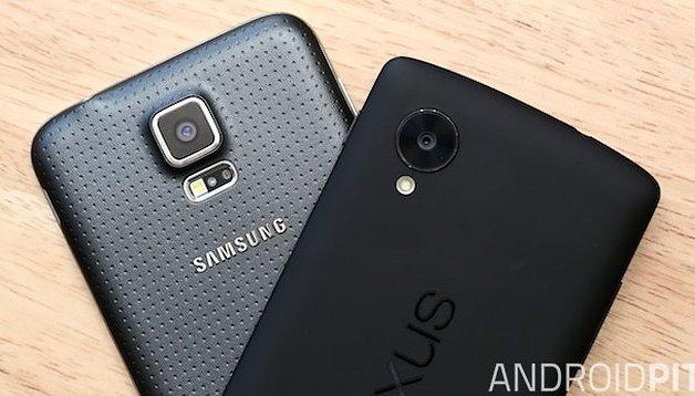 Comparación entre el Samsung Galaxy S5 y el Nexus 5