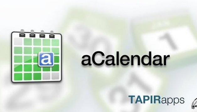aCalendar : le meilleur agenda sur Android