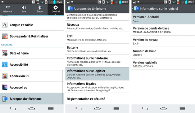 connaitre numero version android