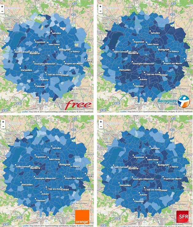 couverture paris sfr bouygues orange free