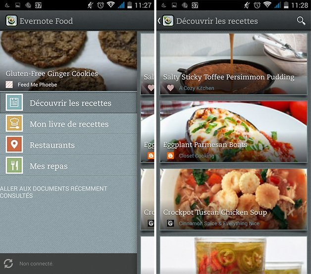 evernote cuisine application