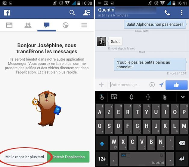 facebook adieu messenger