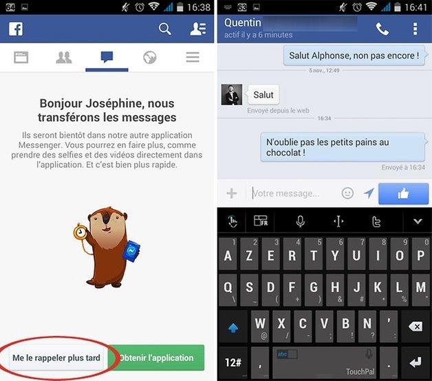 facebook adieu messenger