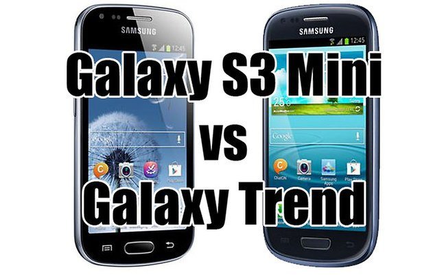 galaxy s3 mini vs galaxy trend2