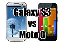 Comparatif : le Samsung Galaxy S3 face au Moto G