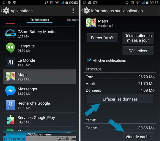 googlemaps batterie