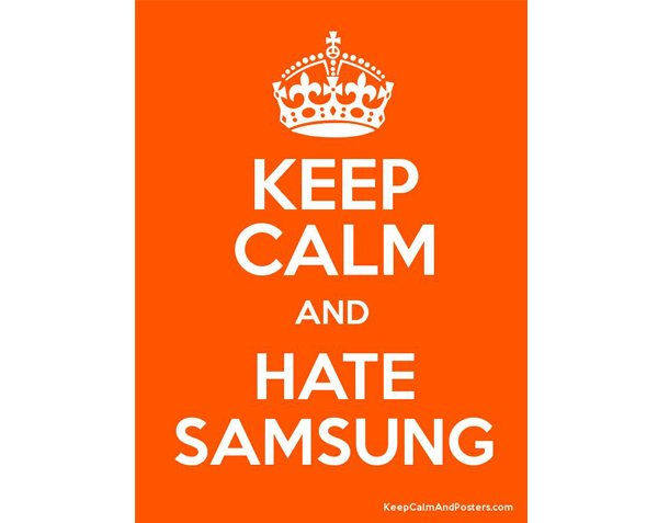 keep calm hate samsung small