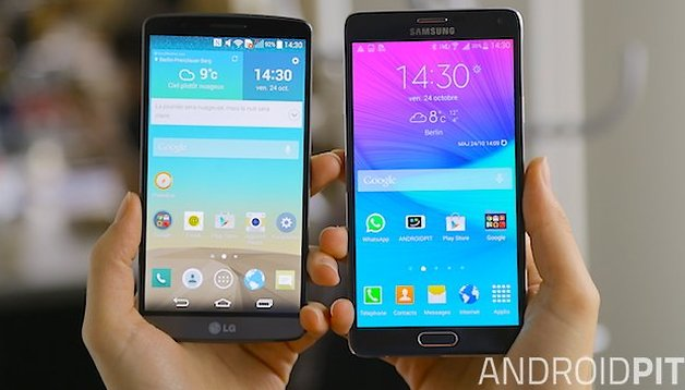 Comparación - Samsung Galaxy Note 4 vs LG G3, dos pantallas QHD