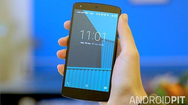 nexus 5 display lockscreen