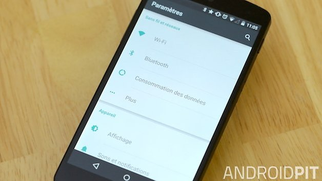 nexus 5 display settings