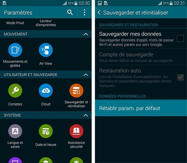 Samsung Galaxy S5 : comment faire un hard reset | AndroidPIT