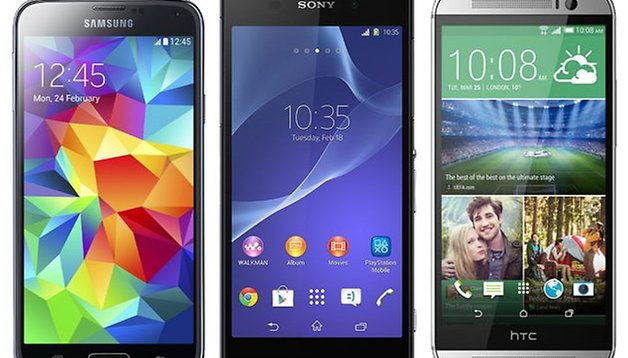 Comparación entre el HTC One (M8) vs. Galaxy S5 vs. Xperia Z2
