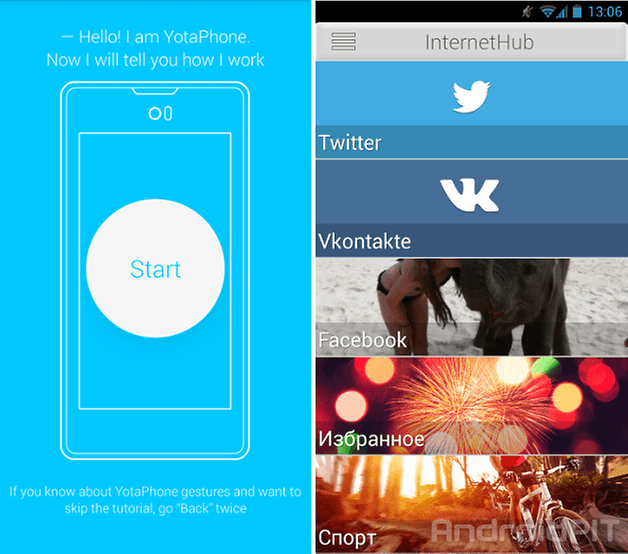 yotaphone screenshot 2