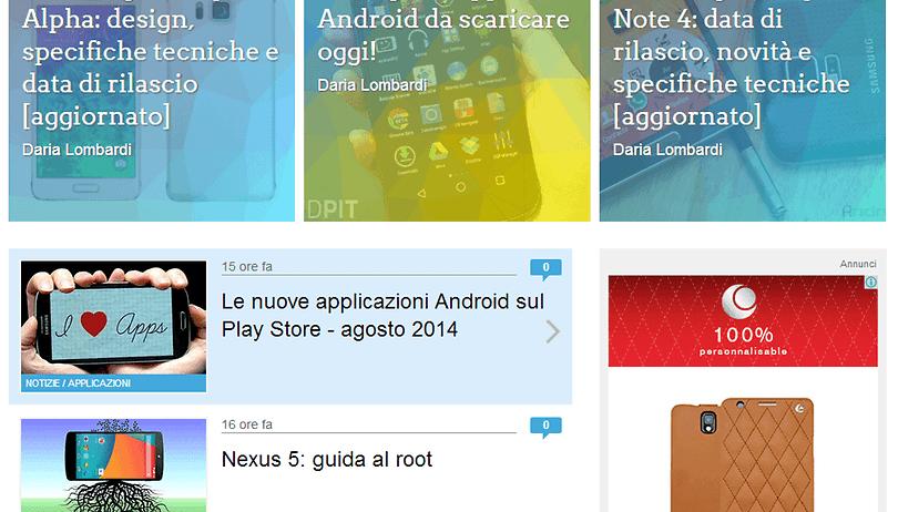 AndroidPIT: il nuovo web design