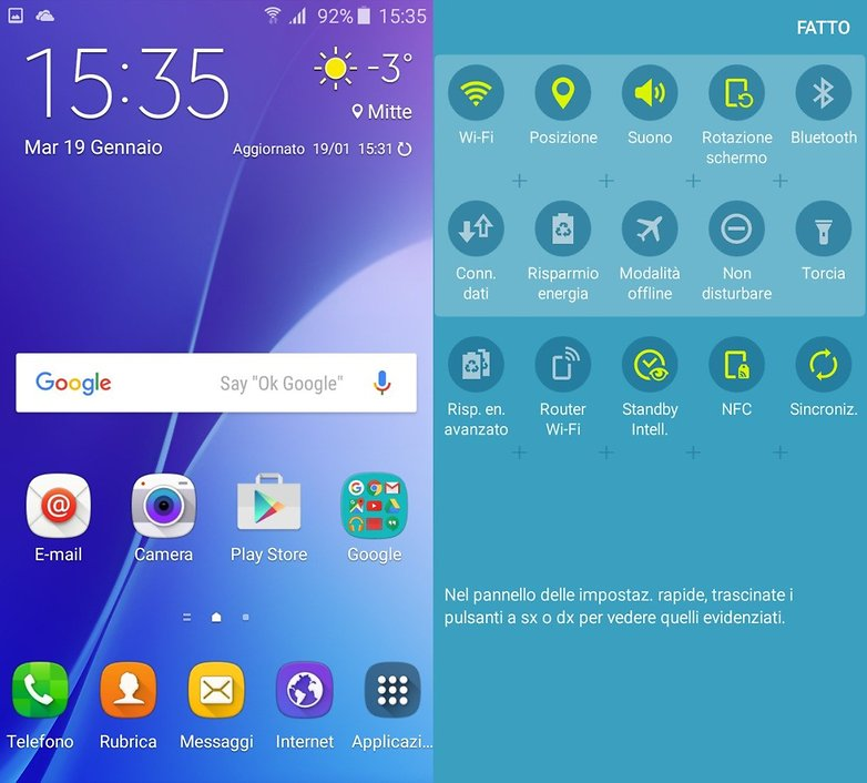Galaxy A3 Touchwiz