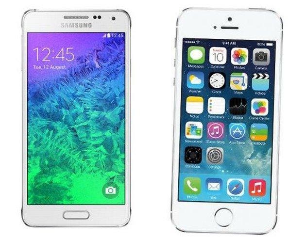 Galaxy alpha iphone 5s