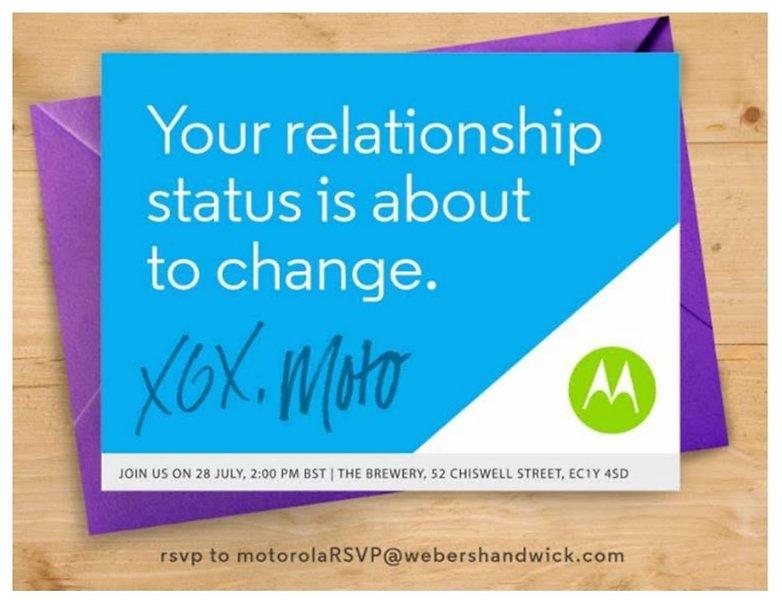 Motorola moto g 2015 event invite