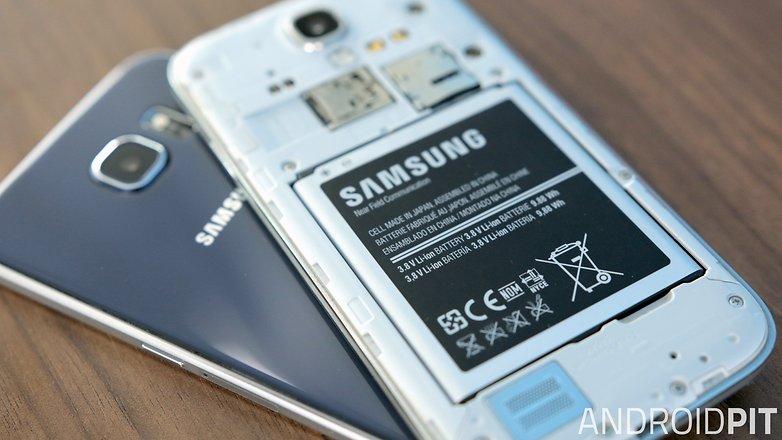 Samsung galaxy s6 vs s4 battery
