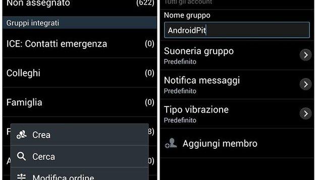 Come gestitre i gruppi di contatti con il Samsung Galaxy S4