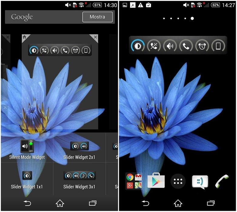 Slider widget app