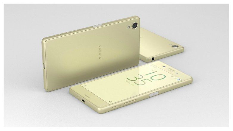 Sony Xperia X lime