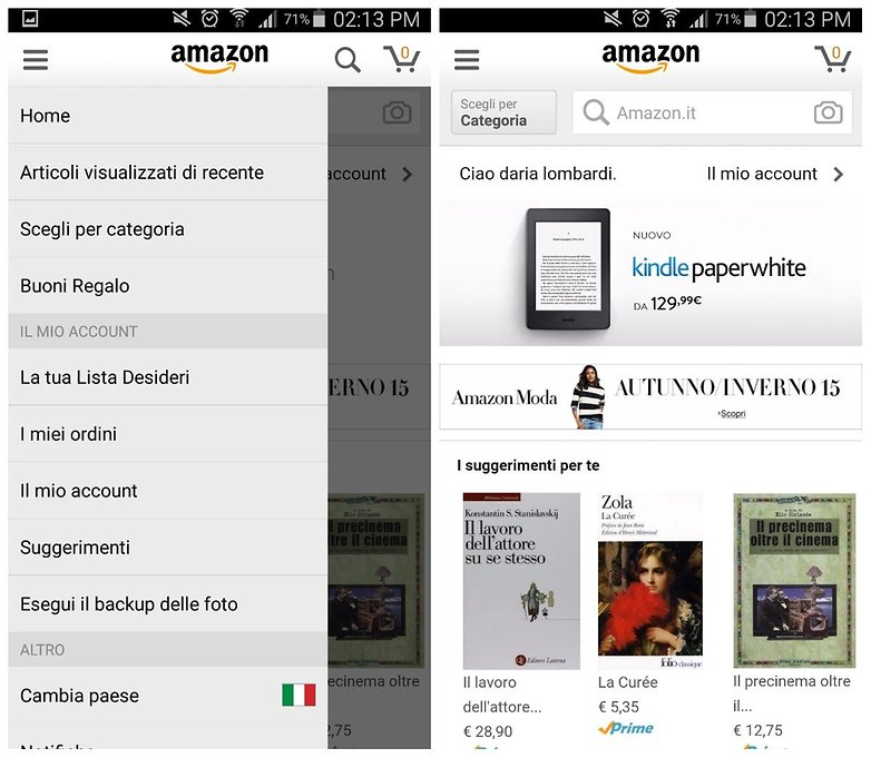 amazon app ITA