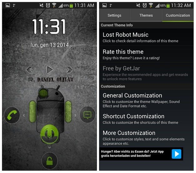 android theme lock