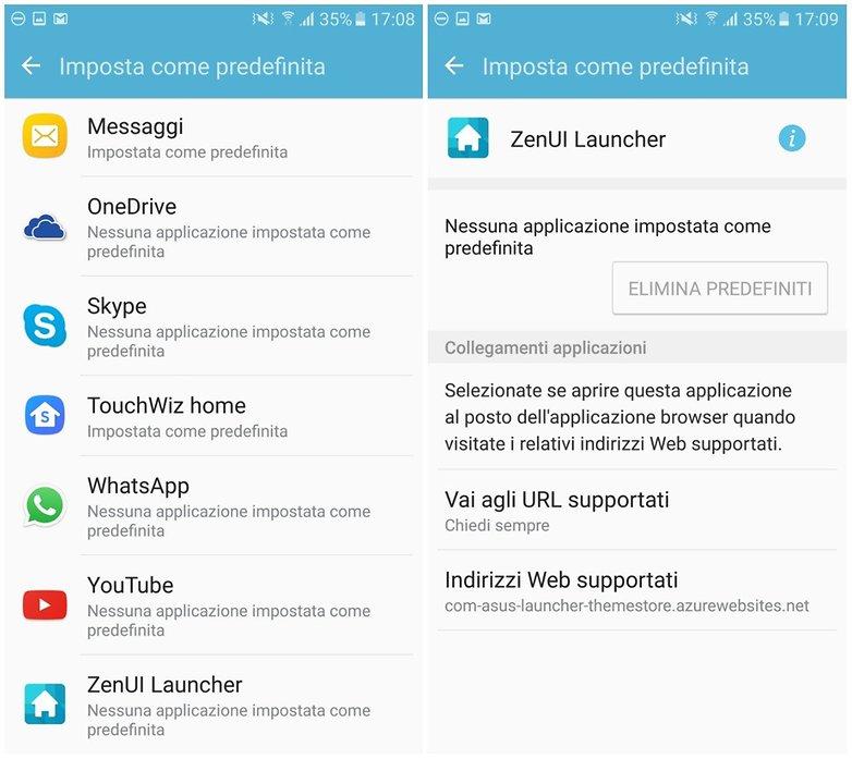 app predefinita launcher