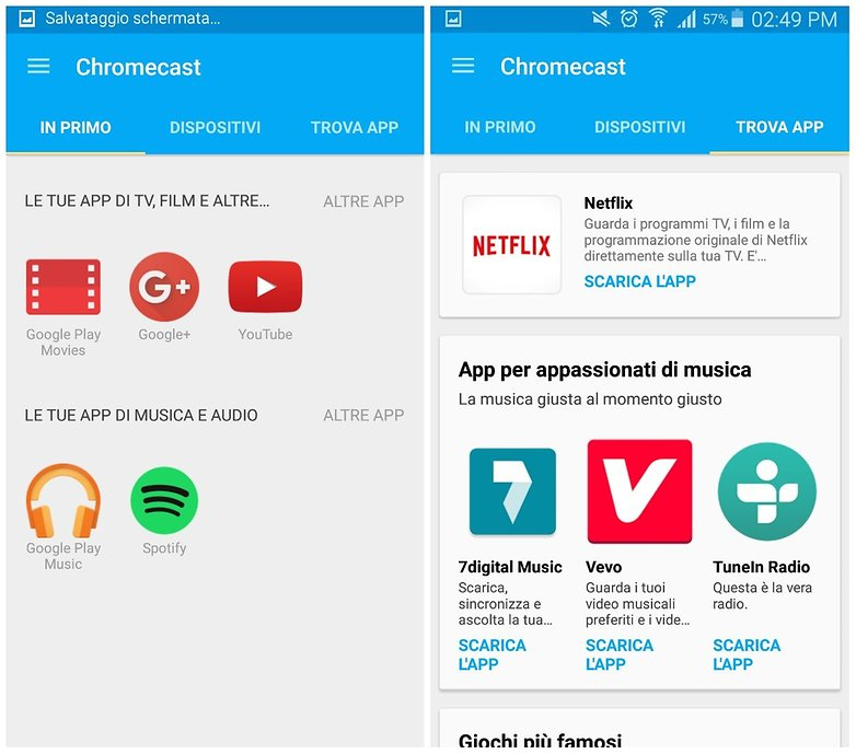chromecast app IT