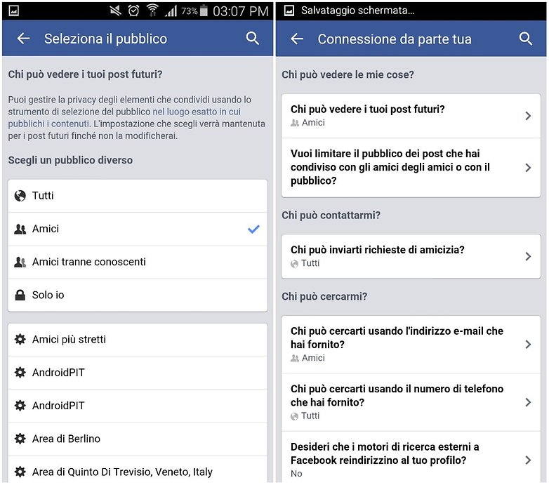 facebook security ita