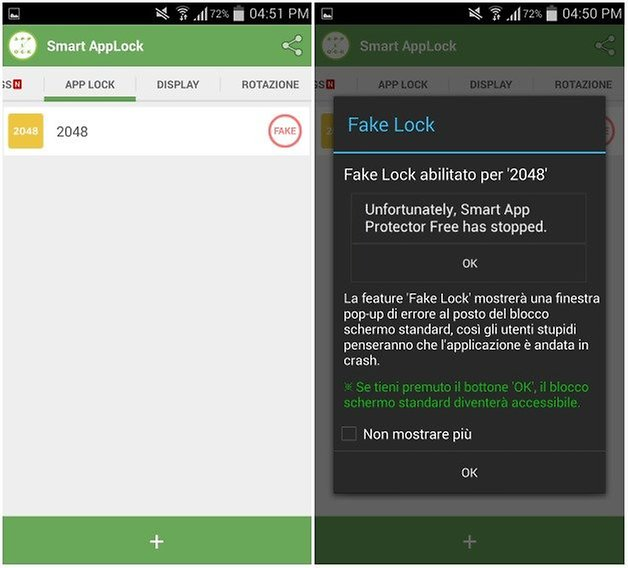 fake lock
