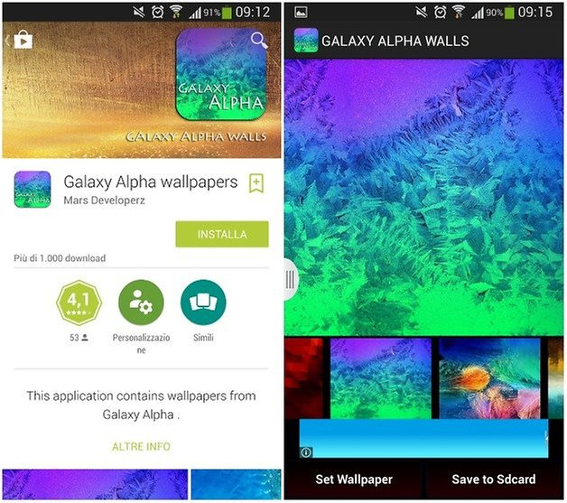 galaxy alpha wallpapers