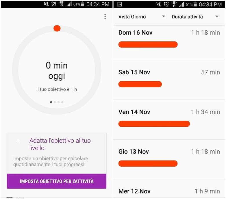 google fit ITA