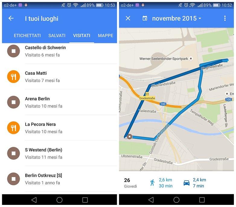 google maps luoghi