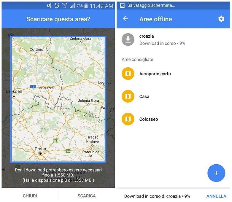 google maps offline ITA